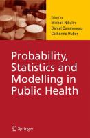 Cover image for Probability, statistics, and modelling in public health