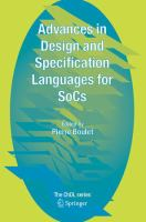 Cover image for Advances in design and specification languages for SoCs : selected contributions from FDL'04
