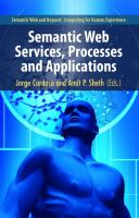 Cover image for Semantic Web services, processes and applications