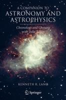 Cover image for A companion to astronomy and astrophysics : chronology and glossary with data tables