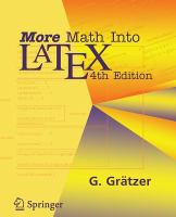 Cover image for More math into latex