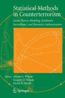 Cover image for Statistical methods in counterterrorism : game theory, modeling, syndromic surveillance, and biometric authentication