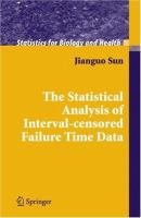 Cover image for The statistical analysis of interval-censored failure time data
