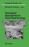 Cover image for Geological approaches to coral reef ecology