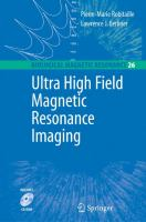 Cover image for Ultra high-field magnetic resonance imaging