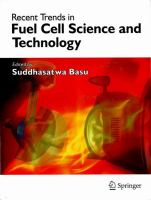 Cover image for Recent trends in fuel cell science and technology