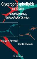 Cover image for Glycerophospholipids in the brain : phospholipases A2 in neurological disorders