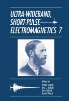 Cover image for Ultra-wideband, short-pulse electromagnetics 7