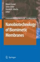 Cover image for Nanobiotechnology of biomimetic membranes