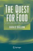 Cover image for The Quest for Food A Natural History of Eating