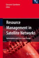 Cover image for Resource Management in Satellite Networks Optimization and Cross-Layer Design