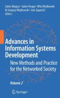 Cover image for Advances in information systems development new methods and practice for the networked society. Volume 2