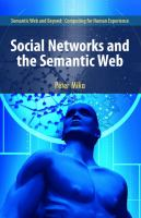 Cover image for Social networks and the semantic web