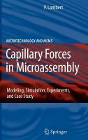 Cover image for Capillary forces in microassembly : modeling, simulation, experiments, and case study