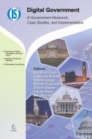 Cover image for Digital government : e-government research, case studies, and implementation