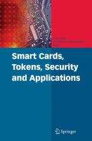 Cover image for Smart cards, tokens, security and applications