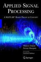 Cover image for Applied signal processing : a MATLAB-based proof of concept