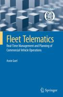 Cover image for Fleet telematics : real-time management and planning of commercial vehicle operations