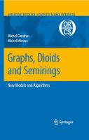 Cover image for Graphs, dioids and semirings : new models and algorithms