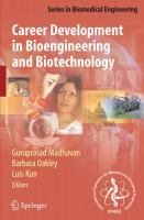 Cover image for Career development in bioengineering and biotechnology