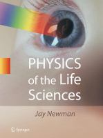Cover image for Physics of the life sciences