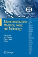 Cover image for Telecommunications modeling, policy and technology