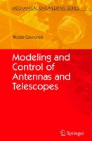 Cover image for Modeling and control of antennas and telescopes