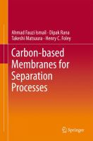 Cover image for Carbon-based membranes for separation processes