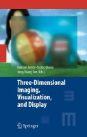 Cover image for Three-dimensional imaging, visualization, and display