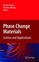 Cover image for Phase change materials : science and applications