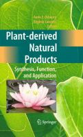 Cover image for Plant-derived natural products : synthesis, function, and application