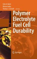 Cover image for Polymer electrolyte fuel cell durability