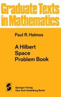 Cover image for A Hilbert space problem book