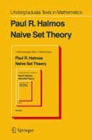 Cover image for Naive set theory