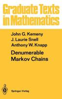 Cover image for Denumerable Markov chains
