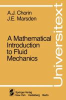 Cover image for A mathematical introduction to fluid mechanics