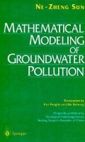Cover image for Mathematical modeling of groundwater pollution