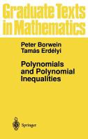 Cover image for Polynomials and polynomial inequalities