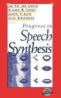 Cover image for Progress in speech synthesis