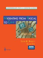 Cover image for Migrating from pascal to C++