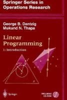 Cover image for Linear programming
