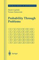 Cover image for Probability through problems