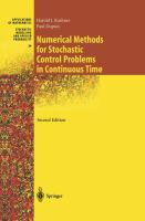 Cover image for Numerical methods for stochastic control problems in continuous time