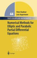 Cover image for Numerical methods for elliptic and parabolic partial differential equations