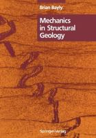Cover image for Mechanics in structural geology