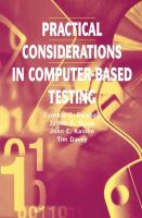 Cover image for Practical considerations in computer-based testing