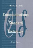 Cover image for Communications standard dictionary