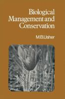 Cover image for Biological management and conservation : ecological theory, application and planning