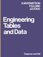 Cover image for Engineering tables and data