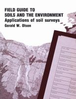 Cover image for Field guide to soils and the environment : application of soil surveys